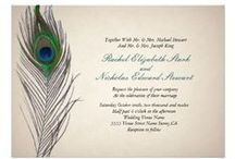 PEACOCK Feather Wedding Invites / PEACOCK Feathers are a popular elegant and fun wedding trend that can coordinate with beautiful shades of purples, blues, turquoise, teal, golds, and even pinks! The possibilities are endless!