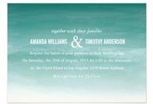 WATERCOLOR / Wedding Invites / Watercolors is currently a popular design in wedding invitations and stationary. Various shades of colors mix to create other colors, or darker / lighter versions of the original colors. Very pretty! An entire wedding could be planned and designed around the use of watercolors.