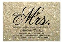 GLITTER / Wedding Invites / The look of real glitter on Wedding Invitations is super cute, without the glittery mess!