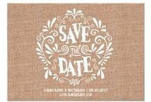 BURLAP / Wedding Invites / Burlap is definitely in style for weddings! Add in some lace, mason jars, jute, and some cowboy boots and you've got yourself a vintage, rustic, country wedding!