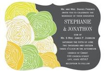 YELLOW + GRAY / Wedding Invites / Yellow & Grey Wedding Invitations and Stationary