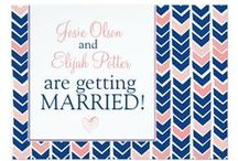 NAVY + PINK / Wedding Invites / Navy Blue and any shade of pink is becoming a popular modern wedding color combination. Personally, it is one of my favorites!