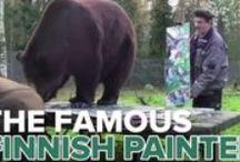 Juuso karhun taide. / Kuusamolaisen juuso karhun maalaamia tauluja
