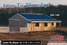 Lean-To Thursdays! / Every Thursday we pin a photo of a building with a sweet Lean-To attached to it!