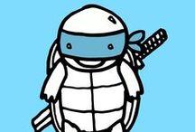Ninja Turtles / Cowabunga dudes! Totally awesome ninja turtle board!