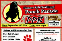 Pioneer Pole Buildings' Pooch Parade / Prizes were be awarded for: Best Tail Wagger, Best Dressed, Best Golden Oldie, Loudest, Bark, Smallest/Biggest Pooch, Best Owner/Pooch Look-Alikes, Most Photogenic, Best Trick.