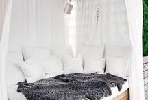 Place for rest and relaxing / Bedroom ideas. Relaxing space ideas.