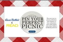 "CONTEST CLOSED - 2013 ""Pin Your Perfect Picnic"" Contest / (CONTEST CLOSED) We're celebrating summer with a ""Pin Your Perfect Picnic"" contest on Pinterest! Beginning Thursday, July 4th, through Friday, August 2, 2013, pinners are invited to share their vision of a ""perfect picnic"" for a chance to win a Grand Prize of $500 cash or Runner-Up Prize of $250 cash; both prizes include a gift basket filled with Aunt Nellie's and READ Salads products. See Official Rules pinned below for details!"