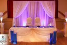 Blue and White Theme Wedding Decor and Reception / Blue and White Theme Wedding Decor and Reception