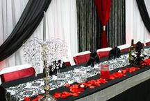 Red Black and White Wedding, Damask wedding / Red and Black Wedding, damask wedding by LUXE Weddings and Events