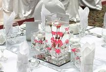White Silver and Pink Wedding Decor / White silver and pink wedding decor, white and silver reception decor, white and pink wedding ceremony decor