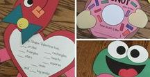 Valentine's Day / Crafts, activities, bulletin boards, fun foods, and ideas based around a Valentine's Day theme.
