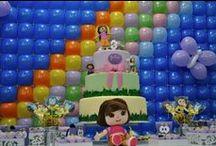 """Festa Dora Aventureira / Dicas para festa infantil no tema """"Dora, a aventureira"""". Dicas do blog Mamãe Prática (www.mamaepratica.com.br) e inspirações do Pinterest que amamos."""