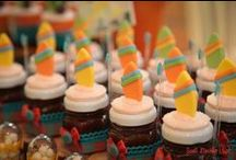 Surfing party (Festa surfe) / Dicas de decoração e doces para festa infantil no tema surfing