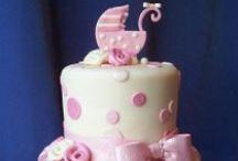 """Bolos para Chá de Bebê (meninas) / Ideias de bolos cenográficos e bolos """"reais"""" para Chá de Bebê para meninas. Dicas para as grávidas!"""