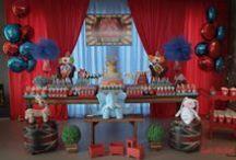 Festas infantis no tema Circo / Dicas de festas infantis no tema Circo. Dicas de decoração, papelaria, bolos e doces!
