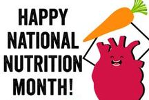 National Nutrition Month / Happy #NationalNutritionMonth from the Women's Heart Alliance! Be sure to eat healthy this month with these delicious & #HeartHealthy recipes!