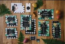 [WEDDING] Thème tropical / Les inspirations de la collection de papeterie Gatsby's Jungle : noir et blanc, jungle et années 20. #mariage #papeterie