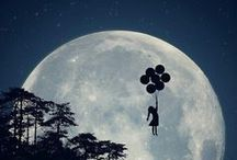 to the moon and back .... / moon, night, shining,  full moon, love