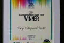 Awards and Certifications / Awards and Certifications for Tony's Tropical Tours #tonystropicaltours www.tropicaltours.com.au