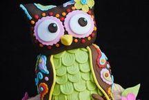 Pöllökakkuja - Owl cakes / Tämä boardi on omistettu kaikille pöllöfaneille!