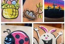 Easter / Spring Face Painting / Easter and spring face painting designs