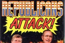 """Republicans Attack! / Inspired by the original """"Republicans Attack!"""" trading card set."""