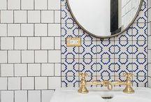 bathroom spaces / Every home deserves a stunning bathroom space. Tranquil feel. Beautiful tile work.