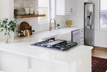 kitchen spaces / Kitchen inspiration. Countertops. Flooring and stunning cabinets.