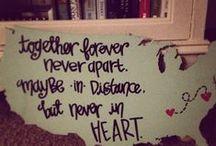 long distance love / by Sydney Stapleton