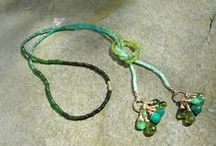 Necklaces • Teece Torre / Handmade gemstone necklaces in lariat, cuff, and tassel styles.