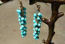 Gemstone Earrings / Single- and multi-strand gemstone earrings by Teece Torre, plus adjustable & hoop styles.