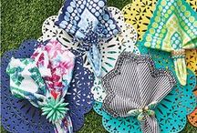 Kim Seybert Spring Beauties / Luxury placemats and table linens.