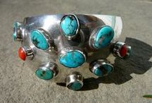 Silver + Turquoise / Silver and turquoise jewelry, including Native American jewelry and vintage jewelry.
