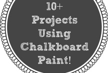 Paint it! With Chalkboard Paint / Wondering what you could do with chalkboard paint? Here are some great ideas and crafts!