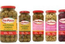 Tío Paco / Azeitonas, cogumelos, picles, cebolinha, tremoço, aspargos, alcaparras, lichia e outros produtos em conserva.