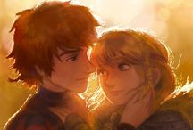 Hiccup e Astrid