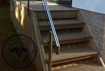 Steps. / Ideas for steps made using decking.