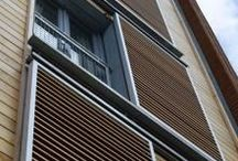 shutters- sliding and pivoting / I appreciate shutters that do a job, rather than ones that act simply as ornament