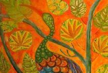 Portfolio_Obrazy Ewa Andruszkiewicz / Wszystkie obrazy mojego autorstwa inspirowane są naturą, trochę stylem Fridy Cahlo. Są też trochę naiwne. To bardzo spontaniczne malowidła, pokazujące moje  spojrzenie na świat (z przymrużeniem oka, nigdy śmiertelnie poważnie). W obrazie stawiam przede wszystkim na kolor. Zapraszam również do odwiedzenia mojego portfolio na www.eva-andruszkiewicz.pl.