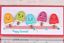 PKS Summer Fun Ideas / Get inspired with summer themed projects! PKS makes a wide variety of faces and phrases that are the perfect compliment to your SVG or die-cut cards, layouts, and 3D projects. Stamp an expression to create a delightful greeting that will bring joy to your friends and family! Personalize your projects with a wide variety of high-quality clear stamps in hundreds of designs. Browse through tropical trees, palm fronds, fruits, veggies, farmers market, mason jar, canning, and summer sun ideas!