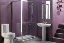 Room Inspo: Main Bathroom / Inspiration for the new bathroom. Deep Purple colour theme.