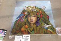 My chalk art / Chalk Artist, Chalk Art, Street Art, Sidewalk Art