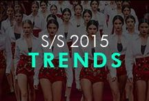 Spring/Summer 2015 Trends / Red, black & white from the SS15 fashion season!