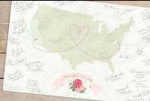 Garden Inspired Wedding / Flowers, Garden Inspiration, Romance, Wedding Ideas, Guestbook Alternative Map