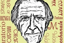 John Cage / composer, teacher, performer, writer, printmaker. A major figure in avant garde music, he is best known for his controversial piece 4'33