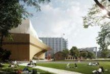 Keskustakirjasto/ Käännös / Keskustakirjaston arkkitehtuurikilpailun voittajaksi valittiin 14.6.2013 arkkitehtitoimisto ALA:n kilpailuehdotus nimeltä Käännös.