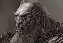 Characters. Orcs, goblins, trolls