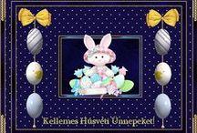 Ünnepek-Saját rajzaim az ünnepekről / Húsvét, karácsony, szilveszter, anyák napja, halloween, születésnap, névnap, halloween, halottak napja