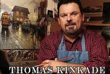 Thomas Kinkade / Festőművész volt és csodálatos szép képeket festett. 1958 - 2012. Csodálatos tájkép ábrázoló és emellett még csodaszép porcelánok is megőrizték a nevét. A hölgyek sorozata, mely a késői viktoriánus korszakot idézi, külön elismerést érdemel. Személyszerint nekem nagy kedvencem.
